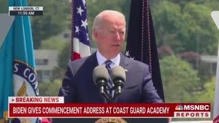 Biden Calls Coast Guard Cadets 'DULL' For Refusing to Applaud