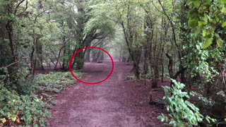 Ghostly figure seen on camera by spooky children's swing