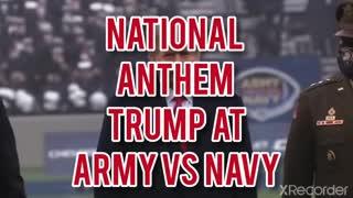 NATIONAL ANTHEM TRUMP AT ARMY VS NAVY