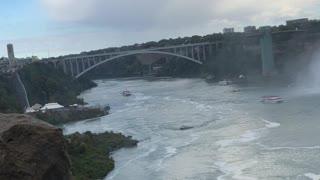 Crazy view of Niagara fall Canada side