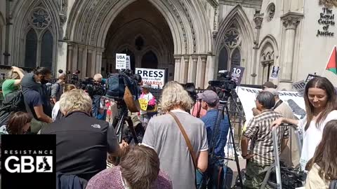 #LIVE Free Julian Assange Rally & Court Hearing l High Court London Protest (11.08.21)