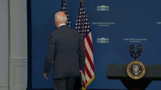 Biden Walks Away From Questions After Hurricane Ida Speech