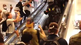 France: Police retreat after vaccine passport protesters enter mall