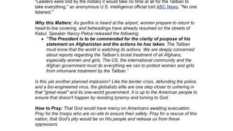 Biden in Hiding as Afghanistan Falls