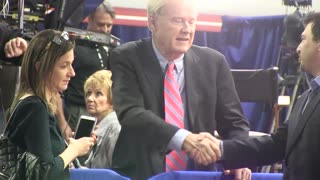 """Chris Matthews appears to push man who asks about """"thrill"""""""