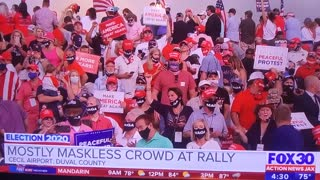Trump Rally 9/24/20 in Jacksonville, FL Local Media Coverage