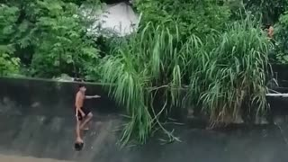 Dog Rescued From Swollen River