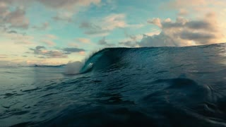 amazing water waves slow motion
