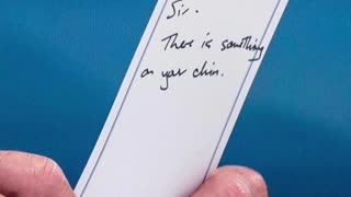 GROSS: Biden Gets Note Saying There's Something on His Face, Then He EATS IT