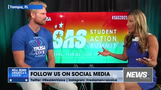 Johnny Root joins News On with Miranda Khan at TPUSA Student Action Summit