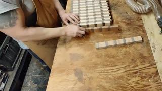 Bringing together a chevron cutting board
