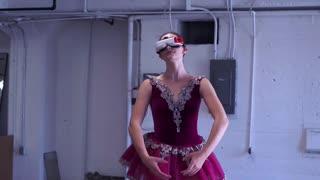 A woman dancing belle