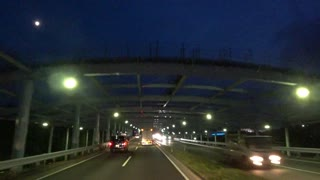 night drive with airplane