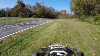 Dads mid race crash