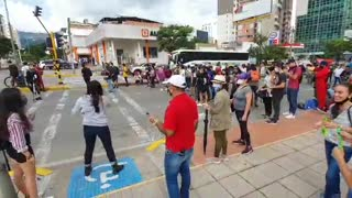 Inició nueva jornada de protesta en Bucaramanga contra abuso policial