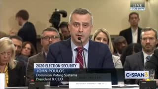 Dominion CEO admits there is Chineese components in voting machines