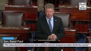 Senator Rand Paul full remarks: January 26, 2021, regarding Trump impeachment