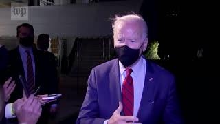 Joe Biden Laughs In Response To North Korea Missile Launch