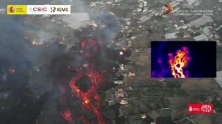 La lava recupera el pulso y amenaza con llegar de nuevo al mar en La Palma