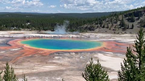 Grand Prismatic Springs Yellowstone