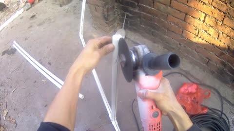 Do it yourself high-end door, PVC pipe iron door, great idea