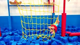 Supergirl Ninja Kids Training On The Ninja Warrior Course