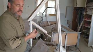 Ted Cruz Visits Destroyed Homes of Innocent Israelis Hurt By 'Terrorist Rockets'