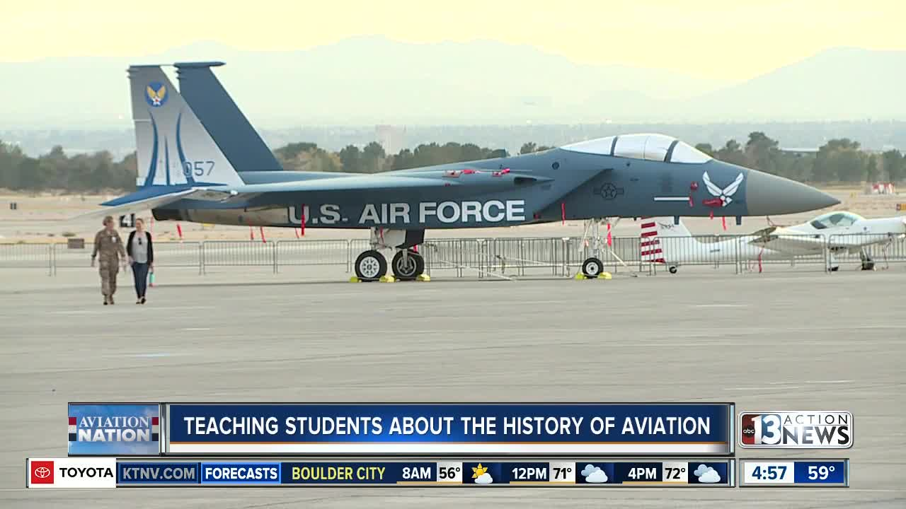 Teaching students about the history of aviation