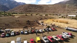 Aerial view Putaendo Province in Chile