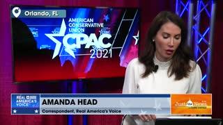 Amanda Head, Correspondent, Real America's Voice - live CPAC update V