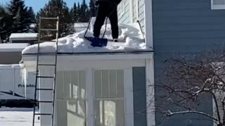 Roof top snow removal!!
