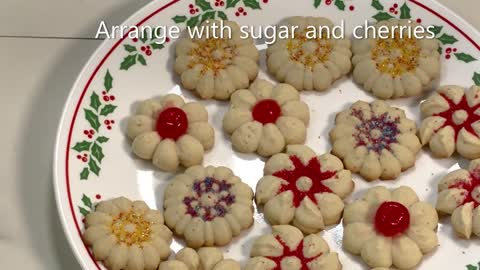 Cardamom Spritz Cookies