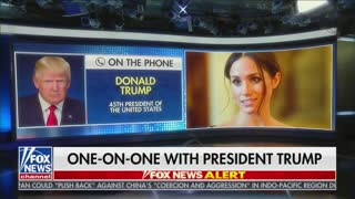 President Trump BLASTS Meghan Markle During Interview With Maria Bartiromo