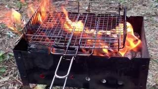 Обжигаем решетку для шашлыков
