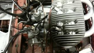 Starting of Berkeley 2 Cylinder 2 Stroke Car Engine