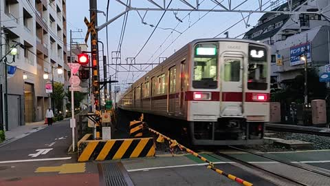 Cool Japan Train Crossing With Signals, Lights, Train, Crossing Arms