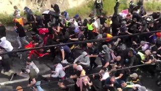 Anti-Lockdown Protesters Clash With Police In Melbourne, Australia