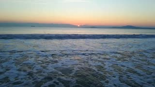 Winter january sunrise