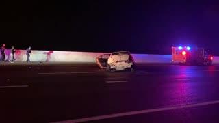 Roll over crash on i70 in Denver Colorado