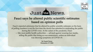 Fauci says he altered public scientific estimates based on opinion polls