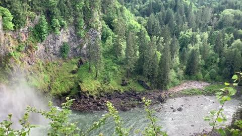 Snoqualmie Falls, Washington, Spring Flood, May 30, 2021