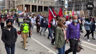 """Toronto Climate Protestors Chant """"Justin Trudeau's F*cking Lying"""""""