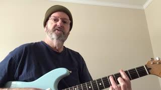 Key of G blues rhythm guitar lesson