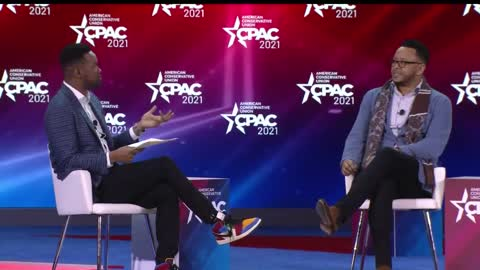 Lawrence Jones and TW Shannon at CPAC 2021