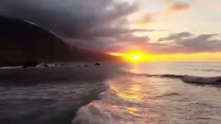 Relaxing music | soothing music | live beach scene