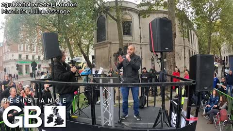 HD Speeches & Performances at March For Julian Assange (23.10.21)