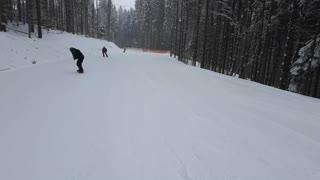 Slow downhill skiing