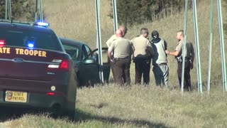 Insane high speed car chase caught on bystander's dash cam!