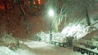 Unreal snowfall