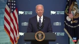 """Biden: We need to go """"door-to-door, literally knocking on doors"""" to check people for vaccinations"""